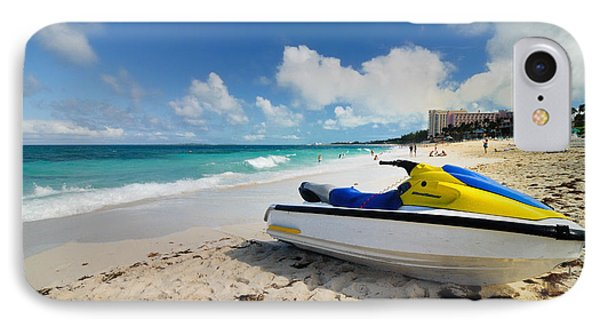Jet Ski On The Beach At Atlantis Resort Phone Case by Amy Cicconi