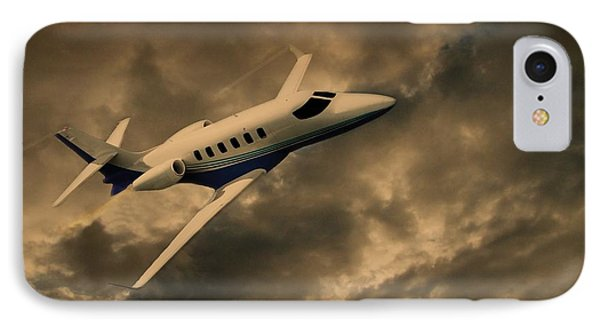 Jet Through The Clouds IPhone Case by David Dehner