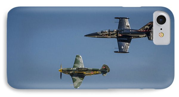 IPhone Case featuring the photograph Jet Vs Plane by Bradley Clay