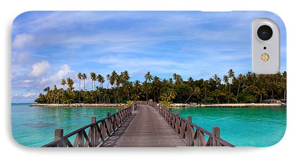 Jetty On Tropical Island IPhone Case by Fototrav Print
