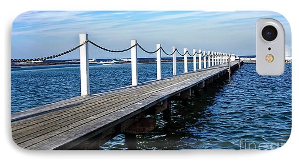 Jetty Stretching To The Ocean Phone Case by Kaye Menner
