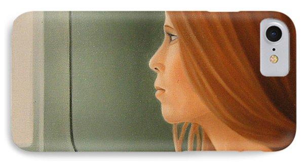Jeune Fille Dans Un Train Phone Case by Michel Campeau
