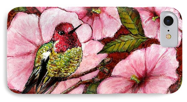 IPhone Case featuring the painting Jewel Among Blooms by VLee Watson