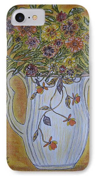 Jewel Tea Pitcher With Marigolds IPhone Case