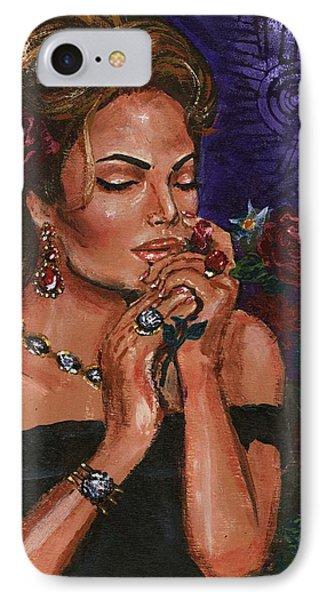IPhone Case featuring the painting Jewels And Roses Box by Alga Washington