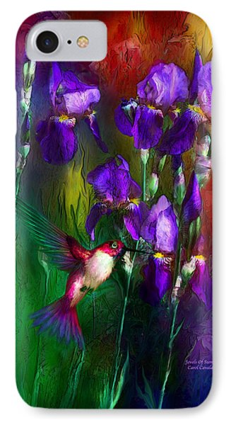 Jewels Of Summer Phone Case by Carol Cavalaris