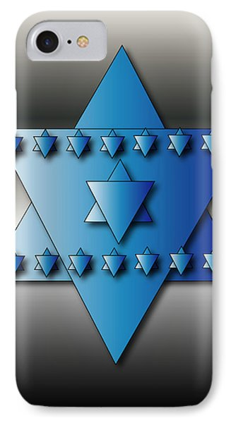 IPhone Case featuring the digital art Jewish Stars by Marvin Blaine