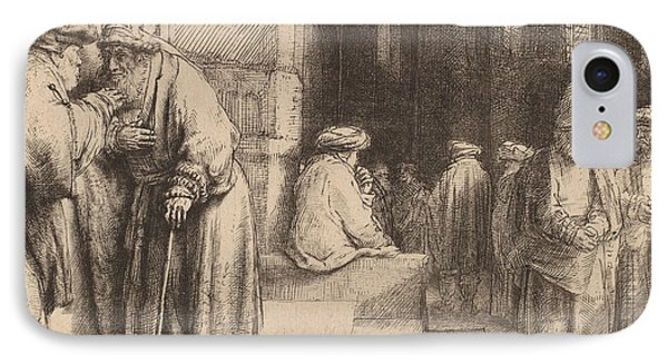 Jews In The Synagogue IPhone Case by Rembrandt