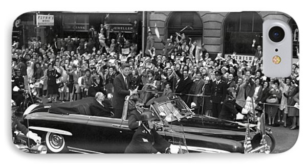 Jfk Cavalcade Dublin 1963 IPhone Case by Irish Photo Archive