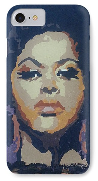 IPhone Case featuring the painting Jill Scott by Rachel Natalie Rawlins