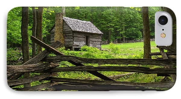 IPhone Case featuring the photograph Jim Bales Cabin by Doug McPherson