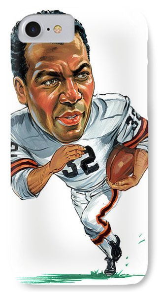 Jim Brown IPhone Case by Art