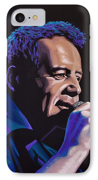 Jim Kerr Of The Simple Minds Painting IPhone Case by Paul Meijering