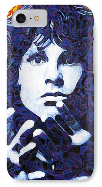 Jim Morrison Chuck Close Style IPhone Case