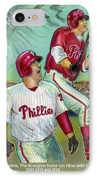 Jim Thome The Energizer  Phone Case by Ray Tapajna
