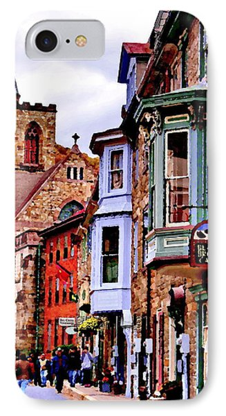 IPhone Case featuring the photograph Jim Thorpe Pa Stone Row by Jacqueline M Lewis