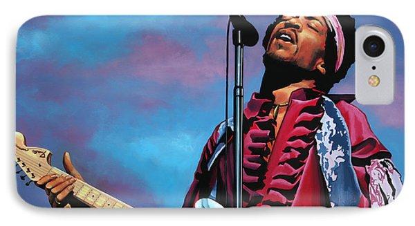 Jimi Hendrix 2 IPhone Case by Paul Meijering