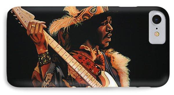 Jimi Hendrix 3 IPhone Case by Paul Meijering