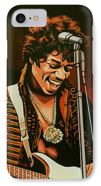 Jimi Hendrix Painting IPhone 7 Case