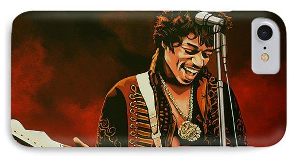 Jimi Hendrix Painting IPhone Case by Paul Meijering