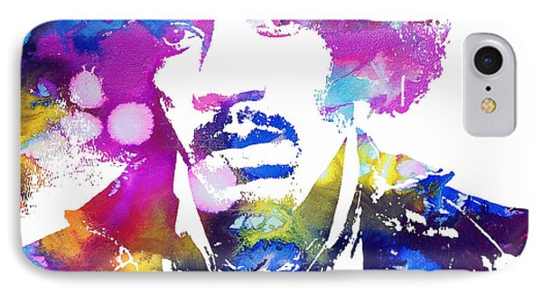 Jimi Hendrix - Psychedelic IPhone Case by Doc Braham