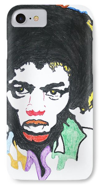 IPhone Case featuring the painting Jimi Hendrix by Stormm Bradshaw