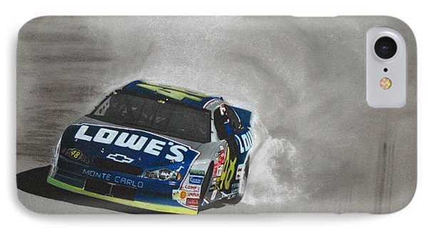 Jimmie Johnson-victory Burnout Phone Case by Paul Kuras