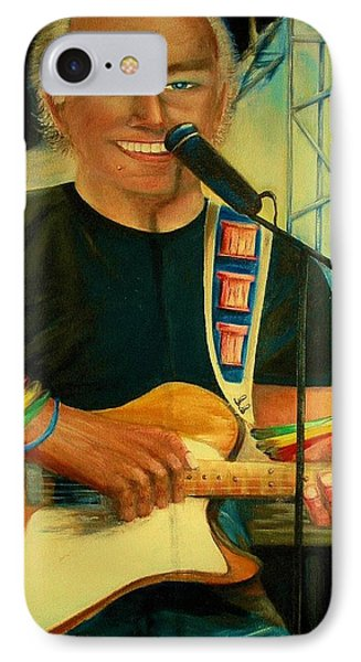 Jimmy Buffett In Paris IPhone Case by Bernadette Krupa