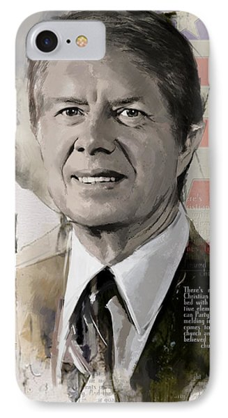 Jimmy Carter Phone Case by Corporate Art Task Force