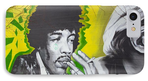 Jimmy Hendrix Mural IPhone Case