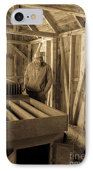 Jimmy In The Old Mt. Cube Sugar House IPhone Case by Edward Fielding
