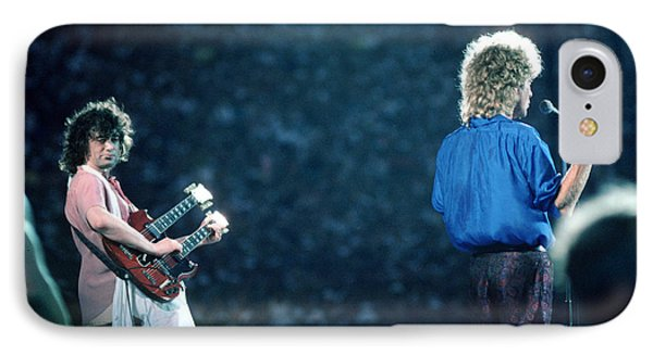 Jimmy Page And Robert Plant IPhone Case by Wernher Krutein
