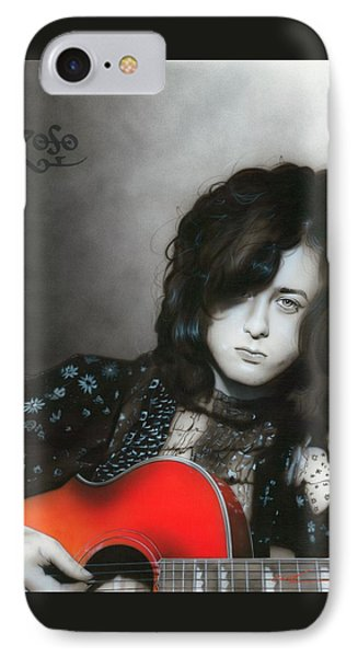 Jimmy Page iPhone 7 Case - Jimmy Page by Christian Chapman Art