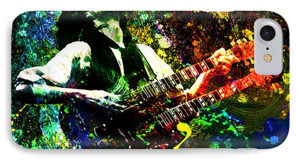 Jimmy Page - Led Zeppelin - Original Painting Print IPhone Case by Ryan Rock Artist