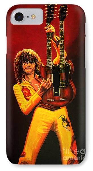 Jimmy Page Painting IPhone 7 Case by Paul Meijering