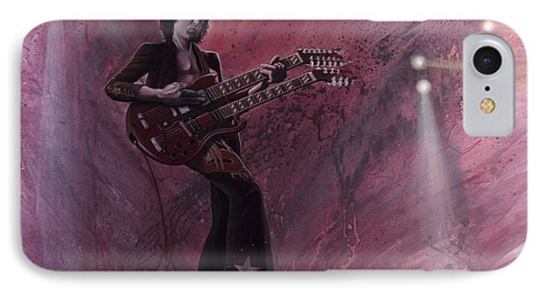 Jimmy Page Phone Case by Robert  Laskey
