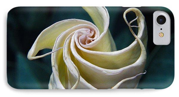 Jimsonweed Flower Spiral IPhone Case