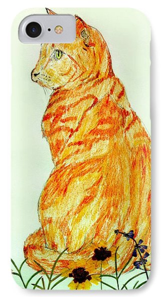 IPhone Case featuring the drawing Jinj by Stephanie Grant