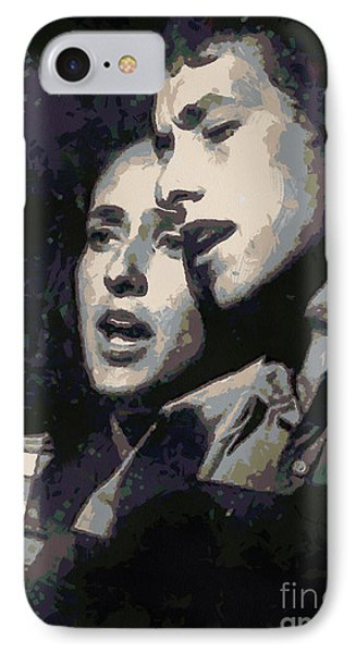 Joan Baez And Bob Dylan Phone Case by Paulette B Wright