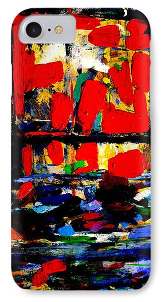 Joan Miro Quote   I Try To Apply Colors Like Words That Shape Poems Like Notes That Shape Music IPhone Case by John  Nolan
