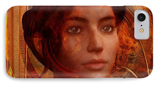 IPhone Case featuring the painting Joan Of Arc Holy Fire by Suzanne Silvir
