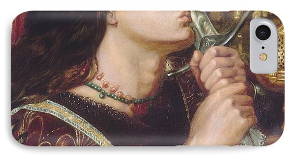 Joan Of Arc Kisses The Sword Of Liberation IPhone Case