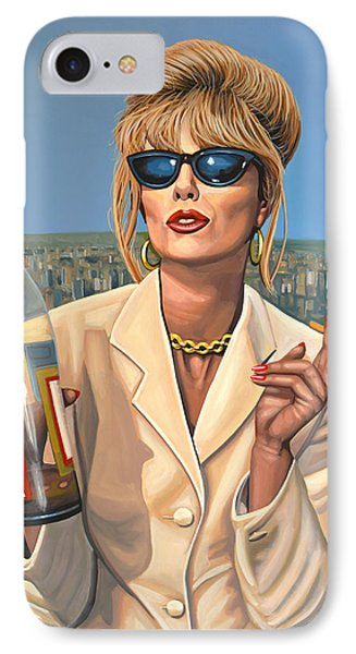 Joanna Lumley As Patsy Stone IPhone Case by Paul Meijering