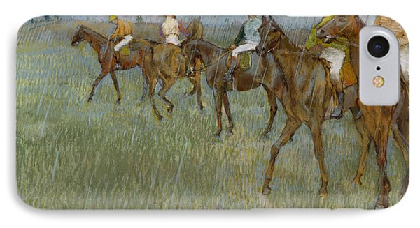 Jockeys In The Rain, 1886 IPhone Case