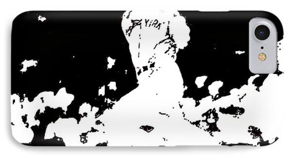 Joe Dimaggio Drawing IPhone Case by Rob Monte