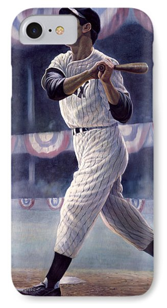 Joe Dimaggio IPhone Case by Gregory Perillo