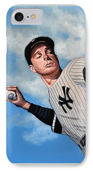 Yankee Stadium iPhone 7 Case - Joe Dimaggio by Paul Meijering