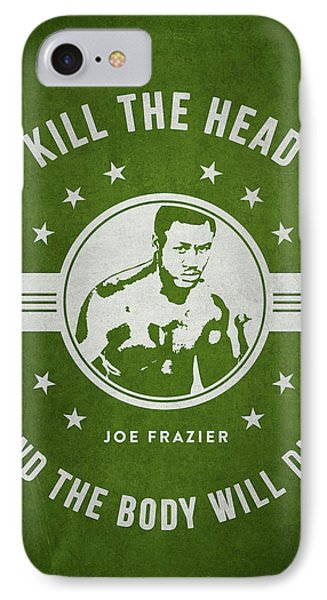 Joe Frazier - Green IPhone Case by Aged Pixel