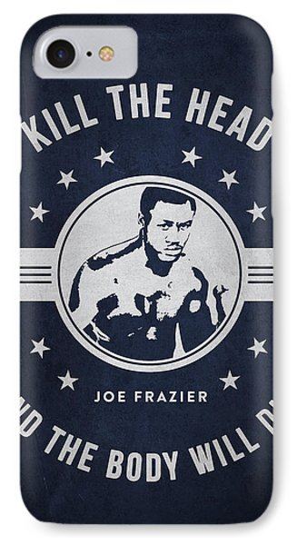 Joe Frazier - Navy Blue IPhone Case by Aged Pixel