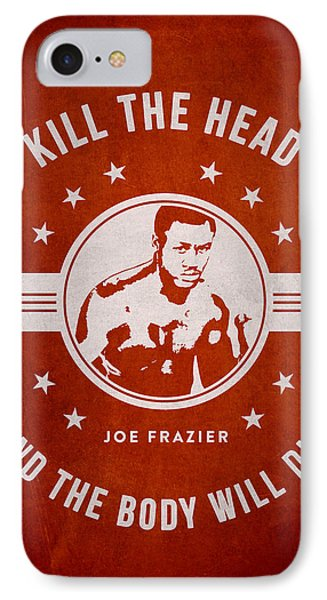 Joe Frazier - Red IPhone Case by Aged Pixel